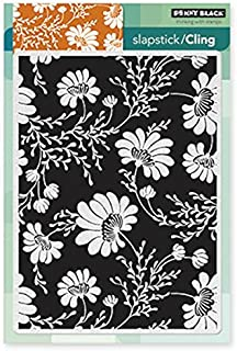 Penny Black 40-283 Floral Tapestry Sheet Cling Rubber Stamp, 5 by 7.5-Inch