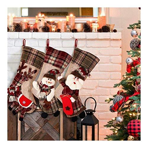 Hcxbb-11 9 stuks adventskalender - kerstartikel - kerstkousen decoratieve hangers - cadeauzakjes kerstman sneeuwpop eland ornamenten cadeauzakjes sokken hangen