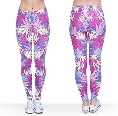 Leggings Womens 3D Graphic Printing Legging Sexy Punk Pants Leggings Women Clothing Ladies Legins Full Length Weeds-Lga31764_One_Size