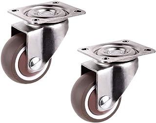 CHENZHANMAOYI Meubilair Wielen Caster Diameter 1.25inch / 32mm TPE Rubber Super Mute Wheels 16pcs Kogelzwenkwielen