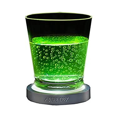 ThinkGeek Star Trek Transporter Pad LED Coasters - Touch-Sensitive Lighting, Optional Sound Effects, 4 Coasters per Set
