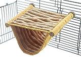 Doppelstockbett Hängematte Schlafbett Käfig Spielplattform mit warmem Fleece für Hamster Mäuse