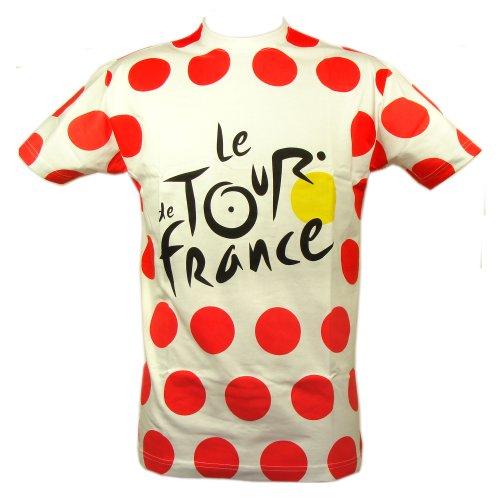 Le Tour de France - T-Shirt 'Maillot à Pois' Tour de France Officiel - Couleur : Pois rouges, blanc, X-Large
