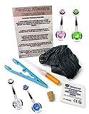 Dctattoo 1.6mm (14g) Premium Cánula Estéril Kit de Agujas para Piercing para Ombligo Piercing. Kit Incluye Circonita Gema Piercing de Ombligo Pieza de Joyería - Transparentes