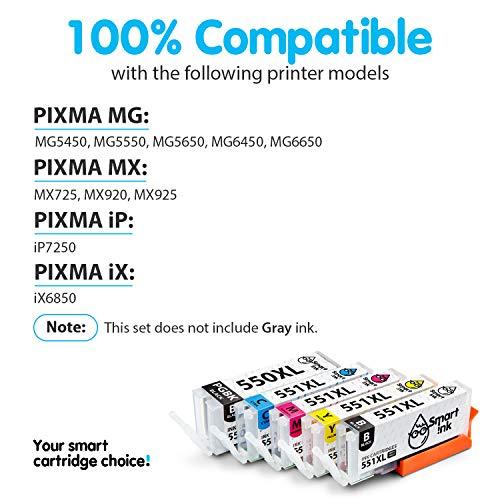 Smart Ink Kompatibel Tintenpatronen für Canon PGI 550XL 550 XL CLI 551XL 551 (6 PGBK & 3 BK/C/M/Y 18 Multipack) zu verwenden mit PIXMA iX6850 MG5450 MG5650 MX725 MG7550 MG7150 MG6450 iP8750 MX925