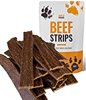 100% PURE BEEF: Made from just a single ingredient – Beef, our healthy beef treats for dogs are free from all additives and perseverative and are made from the highest quality premium beef. UNBELIEVABLY TASTY: Our Beef strips are so tasty that your d...