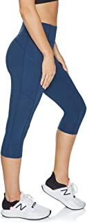 Rockwear Activewear Women's 3/4 Perforated Pocket Tight from Size 4-18 for 3/4 Length Ultra High Bottoms Leggings + Yoga P...