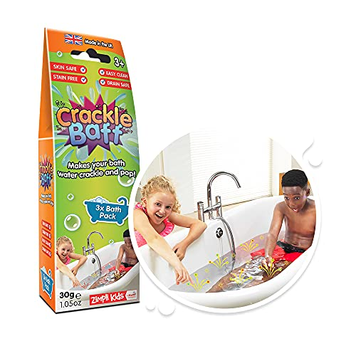 Crackle Baff from Zimpli Kids, 3 Bath Pack, Make Water Crackle and Pop Children's Sensory and Bath Toy, Certified Biodegradable Gift