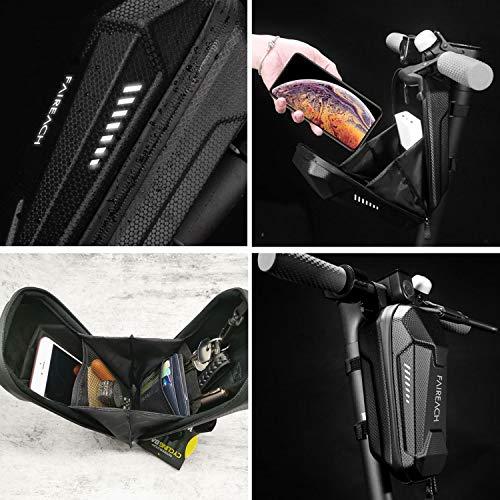 Scooter Tasche für Roller, Faireach Rollertasche Front Tube Bag Groß Lenkertasche Wasserfest, Vordertasche für Elektroroller Xiaomi MI Mijia M365 Sedway NinebotE ES1/ES2/ES3/ES4 - 5