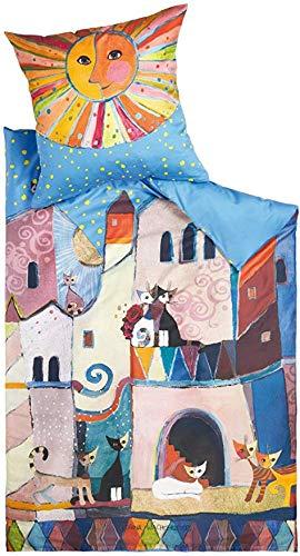 Rosina Wachtmeister Bettwäsche Little Town Col. 321 Blau 155 x 220 cm + 80 x 80 cm