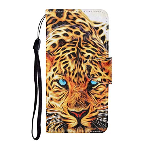 Ufgoszvp iPhone Xr Case, Shockproof Premium PU Leather Shock-Absorption Notebook Wallet Phone Cases with Magnetic Kickstand Card Holders Bumper Flip Protective Cover for iPhone Xr Yellow leopard