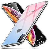 ESR Glas Hlle fr iPhone XS Max TPU Rahmen [Kratzfest] Durchsichtige Rckseite Handyhlle Kabelloses...