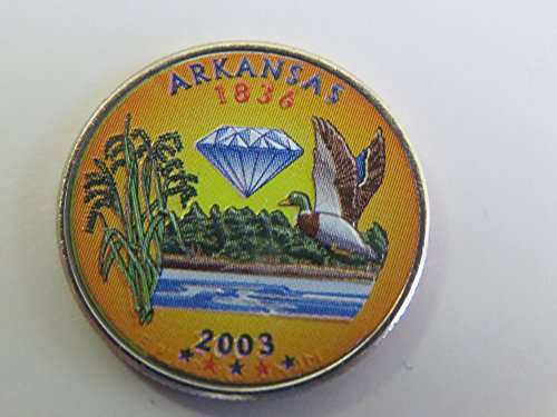 2003 Various Mint Marks Arkansas State Colorized Quarter Choice Uncirculated