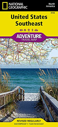 United States, Southeast (National Geographic Adventure Map, 3126)