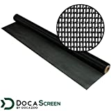 "DocaScreen Pet Screen – 60"" x 96' Pet Proof Screen – Pet Resistant Screen for Window Screen, Patio Screen, Door Screen, Porch Screen, and Other Screen enclosures – Dog Screen, Cat Screen, and More"