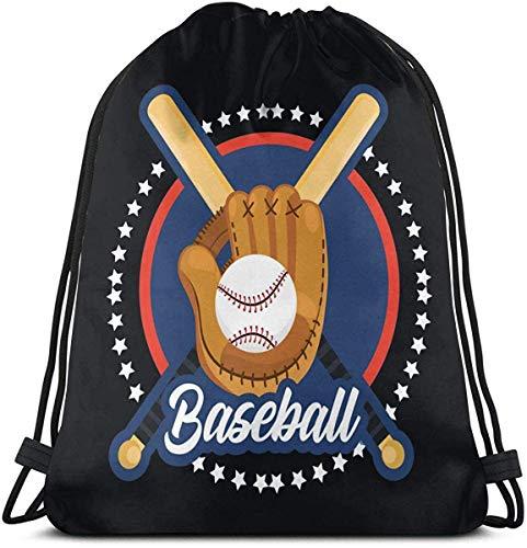 Baseball Sport Spiel Drawstring Rucksack Rucksack Umhängetaschen Sporttasche