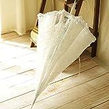 SSXY Spitzenschirm, Elegante transparente Prinzessin Regenschirm, romantische Hochzeitsdekoration