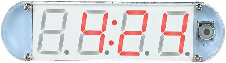 Sangmei Mini DIY 4-digit Digital LED Clock Kit with Transparent Case