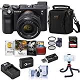 Sony Alpha 7C Mirrorless Digital Camera with 28-60mm Lens, Black Bundle with Bag, 64GB SD Card, Extra Battery, Charger, Filter Kit, Mini Tripod, Corel Mac Software Suite and Accessories