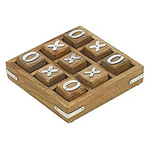 Royal Handicrafts Wooden Tic Tac Toe/Noughts and Crosses Game Unique Handmade Quality Wood Family Board Games