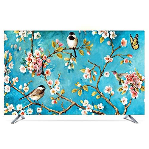 catch-L Cubierta De Polvo De La Pantalla LCD TV Proteger La Pantalla Estilo Chino Birdy Floral Cubierta Antipolvo (Color : Flowers and Birds, Size : 22inch)