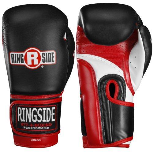 Ringside IMF Tech Super Bag Boxing MMA Training Sparring Gloves, Black, Large