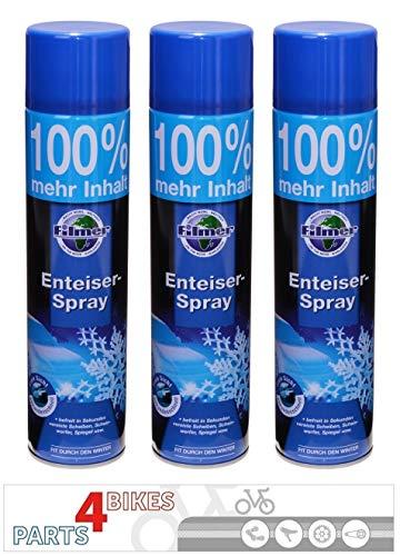 P4B 3X Scheibenenteiser Spray Dose 600 ml Sprühdose Autoscheiben Scheiben Auto Enteiserspray Enteiser Schlösser Scheinwerfer Spiegel