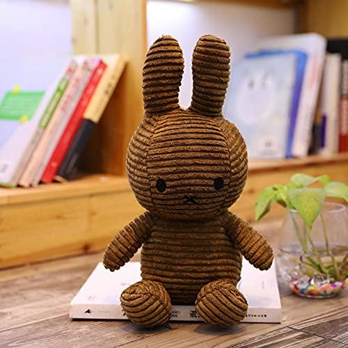 WYSTLDR Lindo y Lindo Conejo de Tela de Felpa holandés reconfortante muñeca para Dormir muñeca de Juguete, Regalo de cumpleaños marrón 35cm