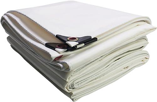Bache HUO, Tissu Durable De Couverture De Cargaison De Camion, Tissu Résistant Fortement Imperméable Anti-UV De Hangar, Blanc 450g   M2 (Couleur   Blanc, Taille   5  10m)