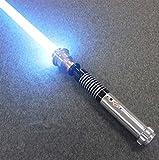 BoMan Lightsaber Metal Hilt Single Color FOC Blaster Wholesale Lightsaber Sable de luz de Duelo Skywalker, Regalo para niños y Adultos,Azul