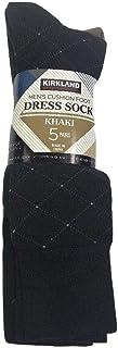 Kirkland Signature Men's 5 Pair Cushioned Crew Dress Socks