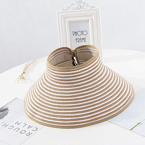 Damen Sommersonnenhut Faltbarer Sonnenhut breitkrempiger Hut Strandhut Strohhut Strohhut Viper Strand Anti-Ultraviolett-Hut