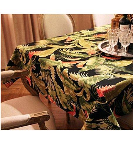 GAOJIAN Tissu de table Tropic Affair Plant Round Rectangle Coffee Dining Decor Cover Coton Canvas Print Nappe , 140*220cm , a