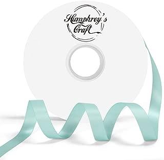Humphrey's Craft 1/2-inch Double Face Solid Satin Ribbon 100% Polyester Ribbon Roll-50 Yard (Tiffany Blue)