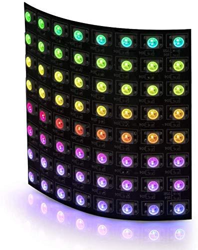 16x16 256 Pixels LED Matrix, WS2812B LED Panel Screen Digital Flexible,Pixel LED Programmed Matrix Individually Addressable DC5V,Controls Image Video Text Display