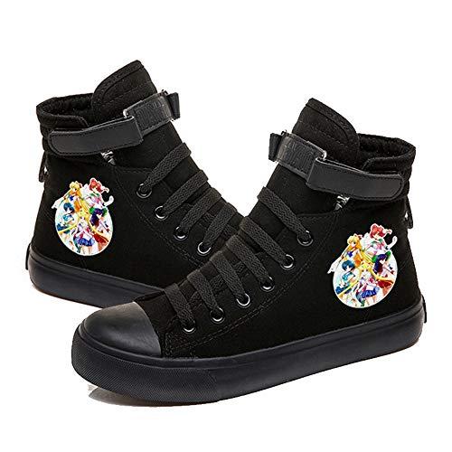NXMRN Sailor Moon Zapatos Vulcanizados para Hombres Y Mujeres Zapatos De Lona Grafiti para Hombres Zapatos Bajos Zapatos Casuales para Hombres Zapatos Deportivos De Moda Calzado Deportivo-43
