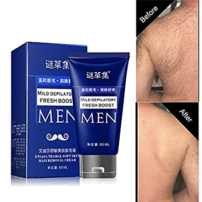 Hair Removal Cream, Body Hair Remover Lotion, Permanent Body Hair Removal Cream Hand Leg Hair Loss Depilatory Cream for Men 60ml from SIRIGOGO
