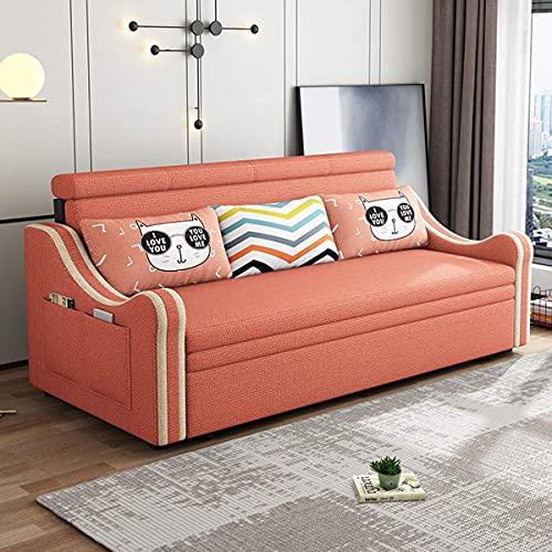 Home Equipamiento Sofá cama extraíble Sofá de almacenamiento Cama convertible Sofá cama plegable Sofá cama multifuncional Sofá de dos plazas Cómodo cojín para sala de estar Apartamento Fuerte capac