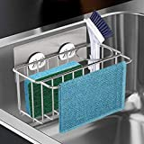 Adhesive Sponge Holder for sink, Upgraded Andyer 3-in-1 Kitchen...