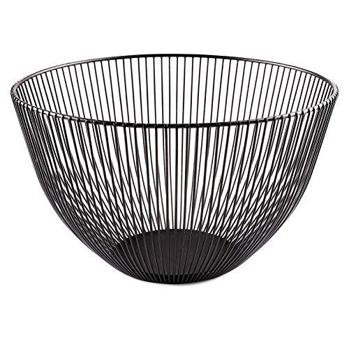 Zwarte Geometrische Metal Fruit Basin, fruitschalen Storage Basket, Knipsel Fruit Storage Basket for Side Table, keuken