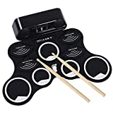 N/P Electronic Drum Set Electric Drum,Foldable Roll Up Electronic Drum Set Double Speakers, Support Headphones, Audio Beautiful Melodic Player,Suitable for Kids Children Beginners