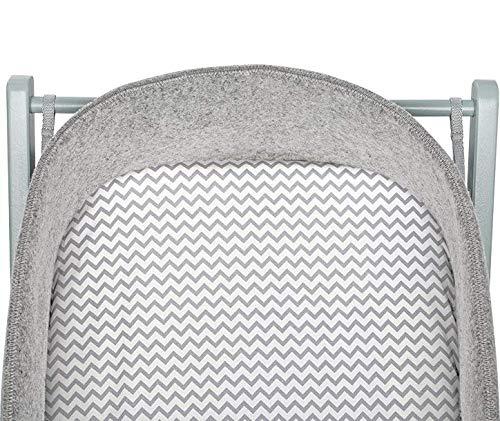 moKee WoolNest Fitted Sheet, Chevron Grey
