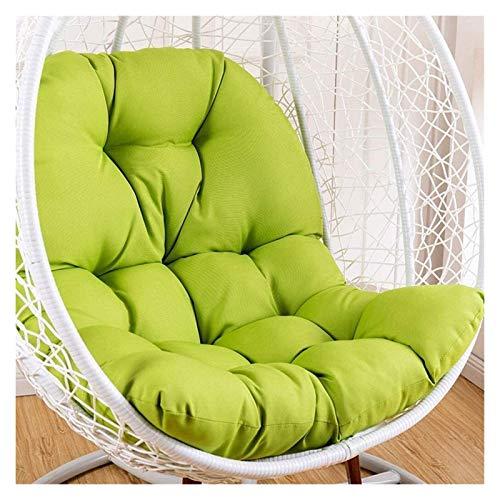 Cojines al Aire Libre para sillas de Patio Colgando Rattan Swing Show Showing Cojín, Pastillas de Silla con Forma de Huevo con reposabrazos al Aire Libre/Indo hsvbkwm (Color : Green)