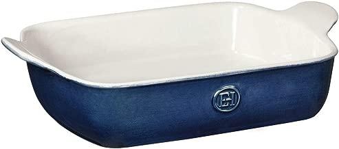 Emile Henry 559620 Modern Classics Small Rectangular Baker 11x9, 11 x 8, Twilight Blue