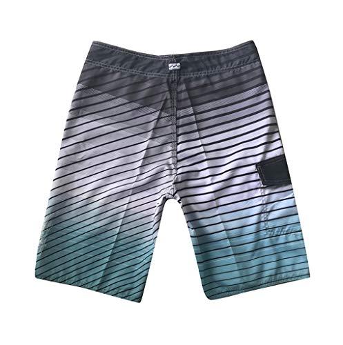 FRAUIT Heren patchwork print shorts zwemshorts strandbroek zwembroek zwembroek strand mannen surfen zwemmen losse korte broek stretch zacht comfortabel vrije tijd sport