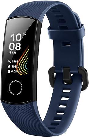 TALLA Honor Band 5. HONOR Band 5 Smartwatch, Pulsera Actividad Inteligente Impermeable IP68 con Pulsómetro, Monitor de Actividad Deportiva, Fitness Tracker con Podómetro, Azul