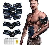 CHUTD Electroestimulador Muscular,Estimulador de ABS y tóner Muscular - Cinturón de tonificación Abdominal y Entrenador de músculos del Cuerpo Equipo para Quemar Grasas 6 Modos y 9 Grados de inten