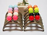 š 10 color set š mouthpiece purse 8.5cm candy arch antique gold handmade