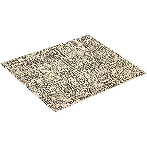Westmark Fettdichtes Papier, 50 Blatt, zum Formen von Pommes-Spitztüten, mit Motiv, beschichtet, Tapas + Friends, Beige/Braun, 69152270