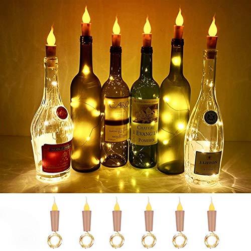 Cadena de Luces led Solar Luces de Botellas 1M 2M de Velas sin Llama Vino Corcho de la Botella de la Navidad LED de Alambre de Cobre de Vino for la decoración del Partido